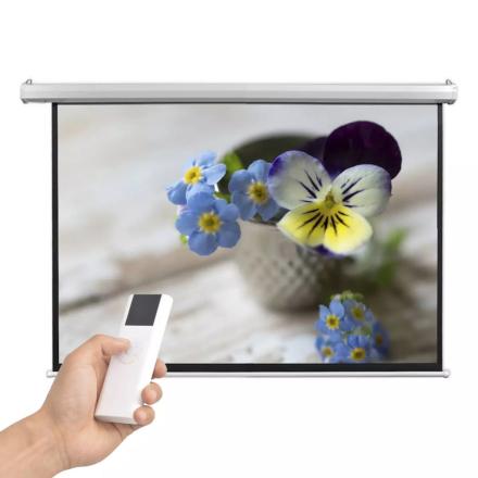 vidaXL Elektrisk projektorskjerm med fjernkontroll 160x90 cm 16:9