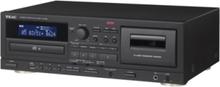 AD-850 - CD player / cassette recorder - CD-spelare/kassettinspelare - Svart