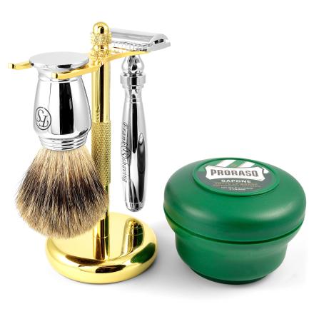 Moderne Krom Barbersett