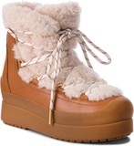 d12b07c8b Skor TORY BURCH - Courtney 60Mm Shearling Boot 50059 Natural Tan 276