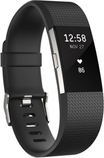 Fitbit charge 2 small - sort / sølv