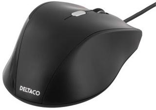 DELTACO Deltaco optisk mus, 3 knapper med scroll, USB