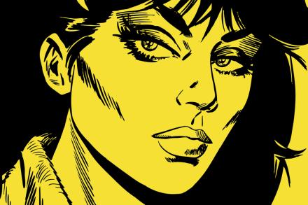 Modesty - Face Yellow Tapetit / tapetti 100 x 100 cm