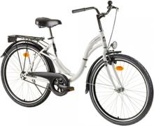 """Urban sykkel 26"""" hvit - dame"""