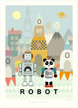 Majvillan Poster 50x70 Robot