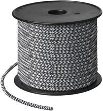 Nielsen Light tygledning, rulle, 50 meter, vit/svart