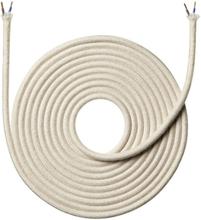 Nielsen Light tygledning 2x0,75 mm², 4 meter, lin, vit