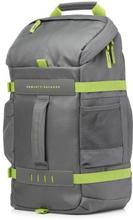 "HP HP 15,6"" Odyssey Sporty ryggsäck, grå/grön L8J89AA Replace: N/AHP HP 15,6"" Odyssey Sporty ryggsäck, grå/grön"