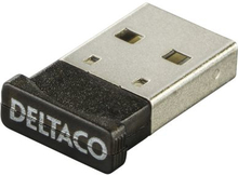 DELTACO Bluetooth 4.0 adapter, USB 2.0, CSR 4.0, 3 Mb/s, sor
