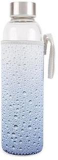 Vattenflaska i glas med fodral - Kikkerland Ljusblå, Accessoarer