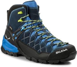 Trekking-skor SALEWA - Alp Trainer Mid Gtx GORE-TEX 63432-0361 Dark Denim/Cactus 0361