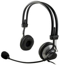 DELTACO DELTACO headset äänenvoimak. säädöllä+mikrofonilla, 2m johto