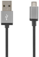 DELTACO DELTACO USB synk/laddkabel 2 m, USB Typ A - USB Micro B MICRO-113 Replace: N/ADELTACO DELTACO USB synk/laddkabel 2 m, USB Typ A - USB Micro B