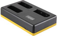 Trippelladdare Nikon EN-EL14 / EN-EL14a - Laddar 3 batterier, även samtidigt