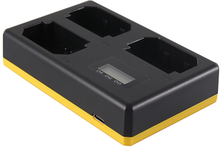Trippelladdare Sony NP-FZ100 - Laddar 3 batterier, även samtidigt