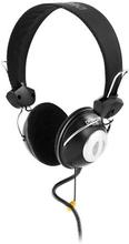 DELTACO DELTACO headset med volumekontrol, 2m ledning