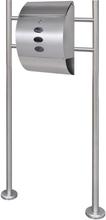 vidaXL Brevlåda på stativ i rostfritt stål