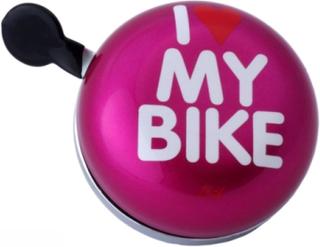 Ringklocka till cykel I Love my bike Pink - Liix