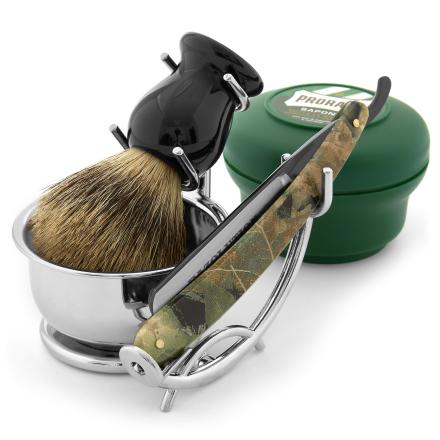 Razolution Kamuflasje Barberknivsett