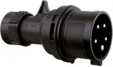 5P CEE Stik - 16A, Male, Black
