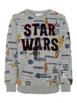NAME IT Mini Star Wars Sweatshirt Men Grey