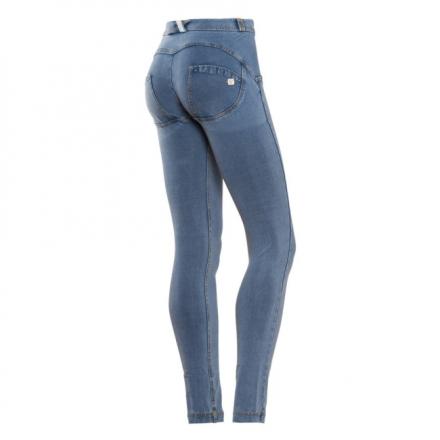 WR.UP® regular waist skinny - Denim effect - J4Y - Clear Denim-Yellow Seam