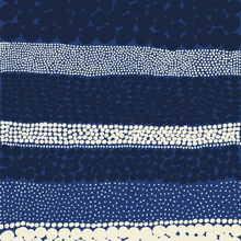 Jurmo tyg blå-vit