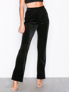 Glamorous Velvet Dot Trousers Byxor Black
