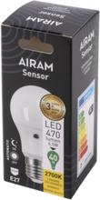 Airam LED Sensorlampa 6,5W/827 E27