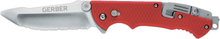Gerber Hinderer Rescue Serrated Knife red 2019 Knivar