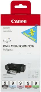 Canon Canon Canon PGI-9 Multipack MBK/PC/PM/R/G Blekkpatrons