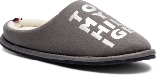Tofflor TOMMY HILFIGER - Metallic Print Home Slipper FW0FW04181 Dark Grey 023