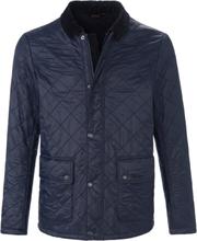 Gewatteerde jas rits- en knoopsluiting Van Barbour blauw