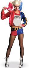 Harley Quinn - Suicide Squad luksus kostume voksen - L