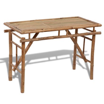 vidaXL Kokoontaitettava Bambupöytä