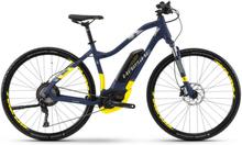 "HAIBIKE SDURO Cross 7.0 Dam blue/yellow/silver matte 48cm (28"") 2018 El-hybridcyklar"