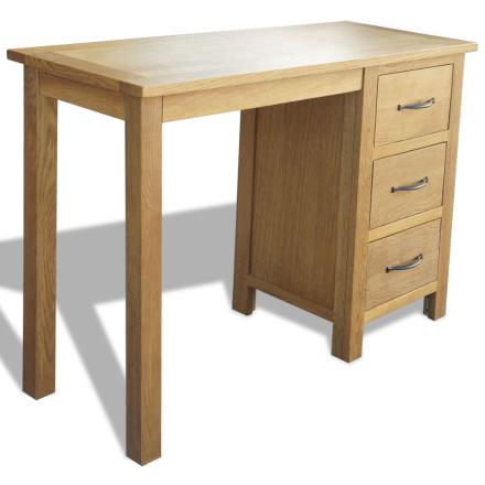 vidaXL Kirjoituspöytä 3 vetolaatikolla Tammi 106x40x75 cm