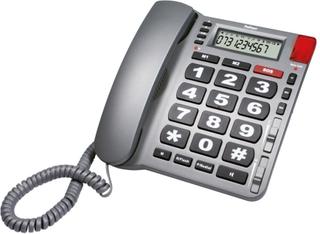 Profoon Big Button Bordstelefon med larmfunktion TX-180 silver