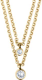 Dyrberg/Kern Halsband Fulli Shiny Gold Crystal