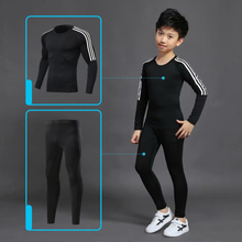 Winter Thermal Underwear Set Kids Hot Thermo Underwear Homme Male Long Johns Boys Girls Lucky Johns Fitness Quick Dry