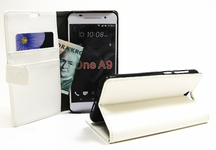 Standcase wallet HTC One A9 (Vit)