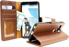 Standcase wallet Google Nexus 5X (H791) (Brun)