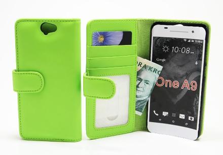 Plånboksfodral HTC One A9 (Grön)