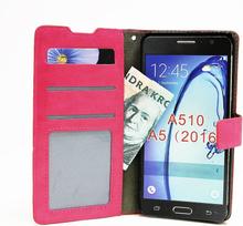 Crazy Horse Wallet Samsung Galaxy A5 2016 (A510F) (Hotpink)