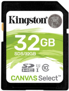 Kingston Minneskort Canvas Select SDHC-kort, 32GB, UHS-I Klass 10 - Kingston