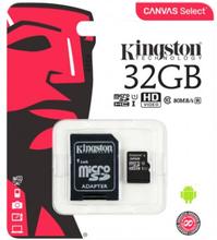 Kingston Canvas Select microSDHC-kort, 32GB, Klass 10 UHS-I