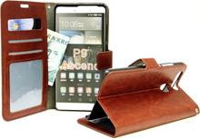 Crazy Horse Wallet Huawei P9 (Brun)