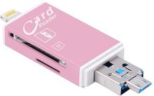 Hukommelseskortadapter til iPhone, iPad, Android - til MicroSD / SD-kort - guld