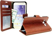 Crazy Horse Wallet Samsung Galaxy J5 2016 (J510F) (Brun)