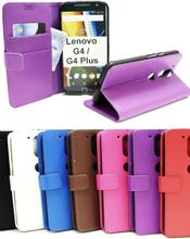 Standcase Wallet Lenovo Motorola Moto G4 / G4 Plus (Svart)